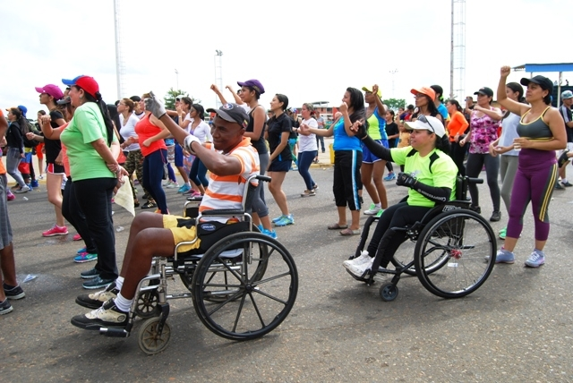Las personas con discapacidad también dijeron presente