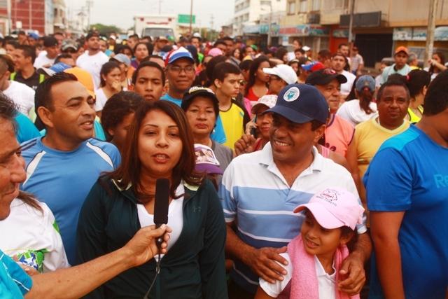 """Manarí de Loreto, """"Es gratificante ver la participación masiva del pueblo en estas caminatas"""""""