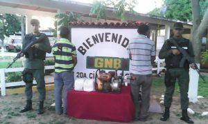 Fueron capturados por efectivos de la GNB en la carretera nacional de Camaguán