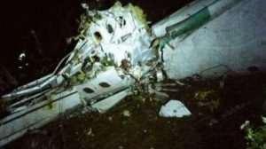 El avión se accidentó en una zona montañosa de difícil acceso en El Cerro Gordo, en el departamento de Antioquia, lo que dificulta las tareas de rescate