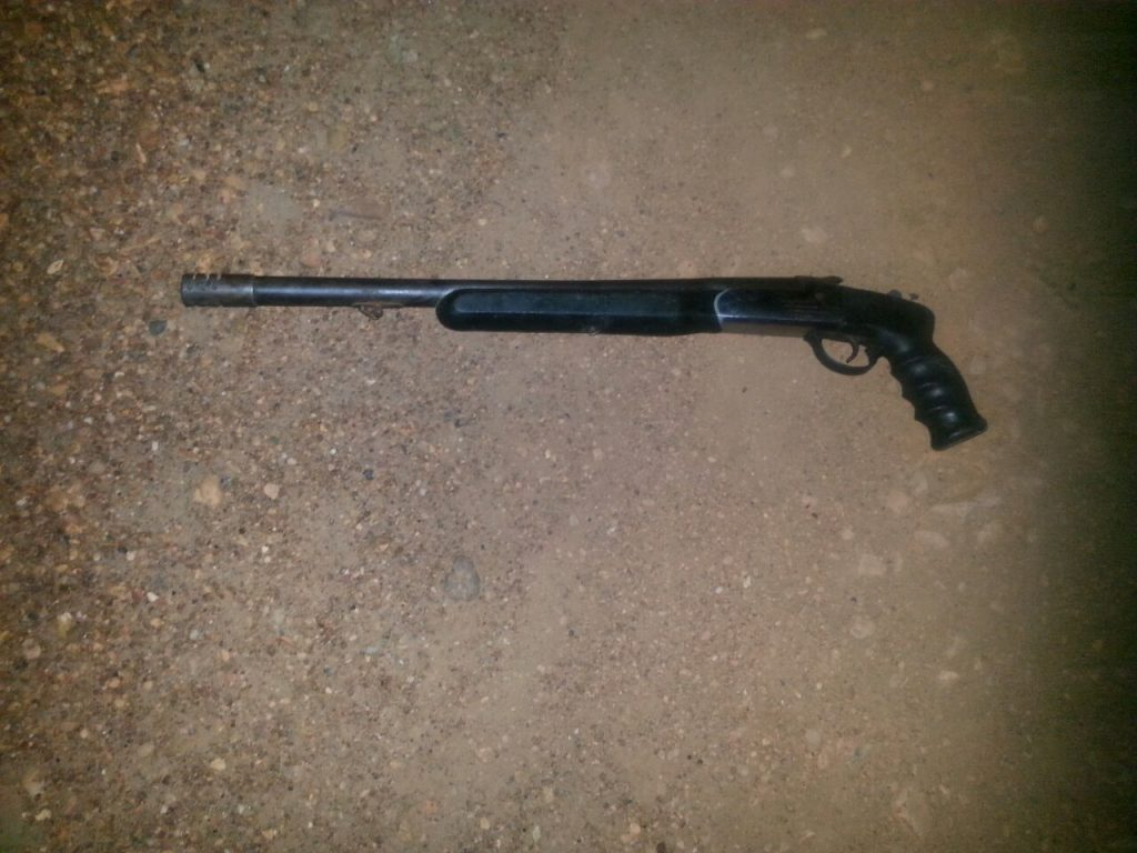 Arma que utilizaron para enfrentarse a la comision de poliguárico
