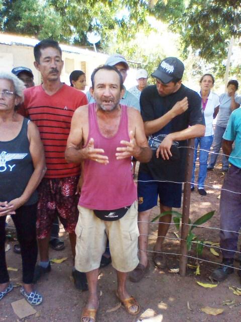 Manuel Eduardo Álvarez (camiseta morada) señaló que en Santa Rita de Manapire han ocurrido numerosas desapariciones forzosas