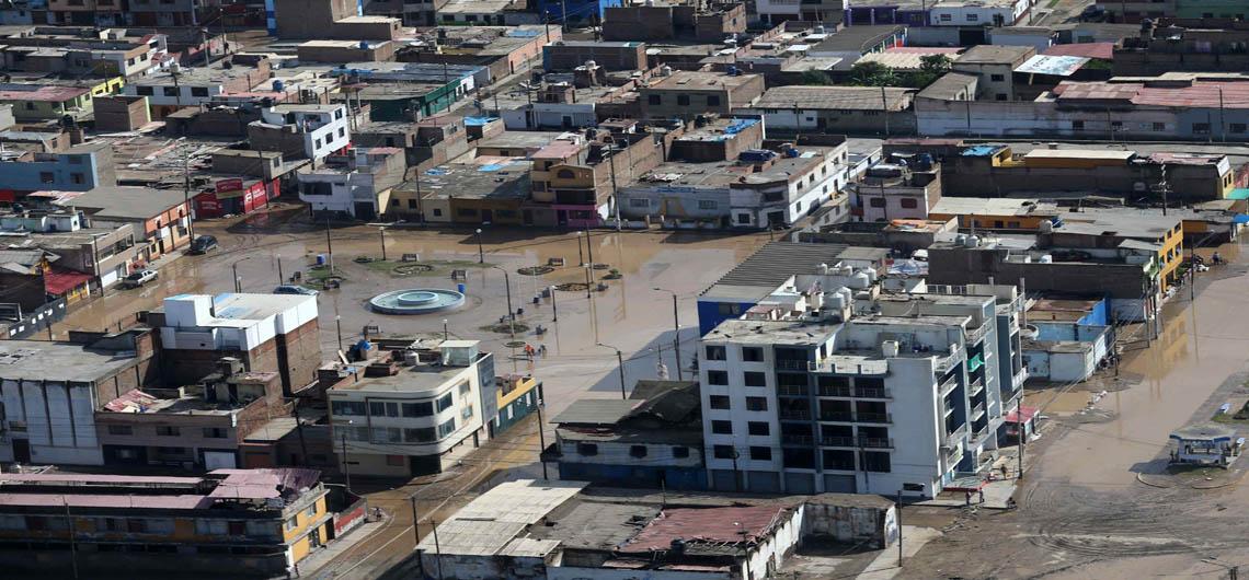 urbanizaciones inundadas en Perú