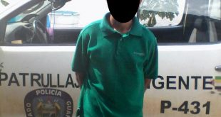 Sujeto de 23 años de edad detenido en Puerto Miranda por intentar violar a una adolescente de 17 años de edad