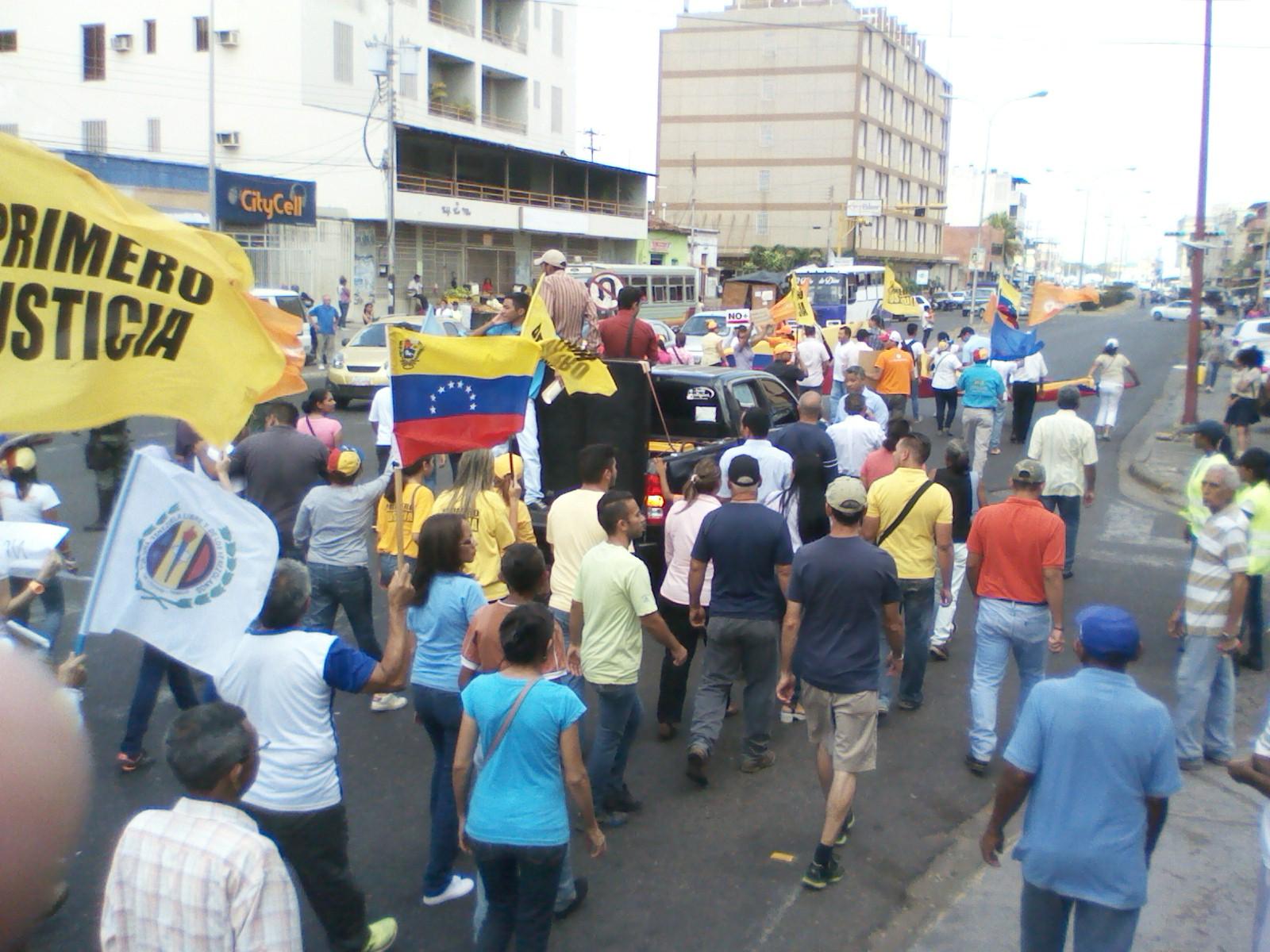 Numerosas personas simpatizantes de los partidos de oposición se congregaron en la avenida Rómulo Gallegos