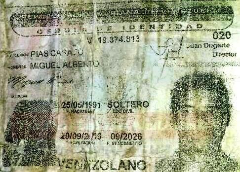 Piaz Casado Miguel Alberto (26) asesinado a puñaladas.