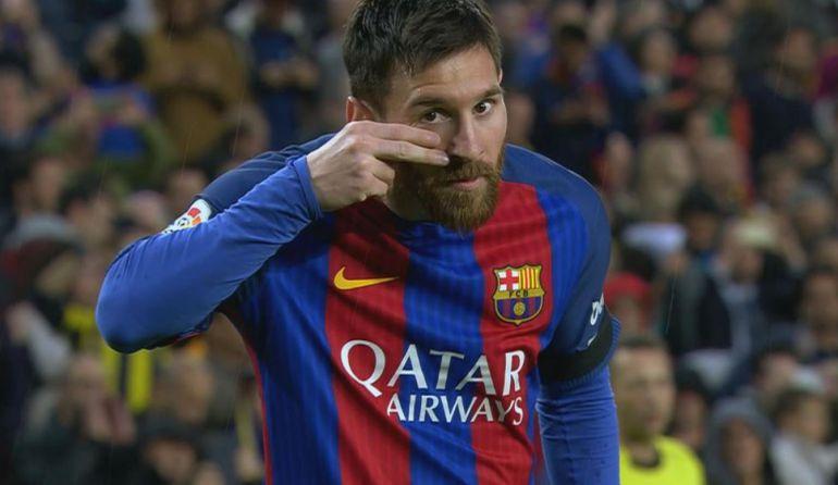 Messi dedica su gol