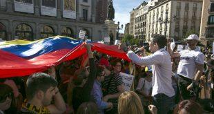 en Madrid protestaron opositores venezolanos