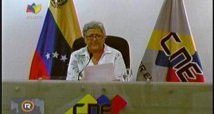 Tibisay Lucena, informó que el Poder Electoral este año realizará dos comicios.