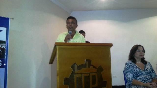 El alcalde de Chaguaramas Yovanni Zalazar fue otro de los encargados de dar las palabras de bienvenida