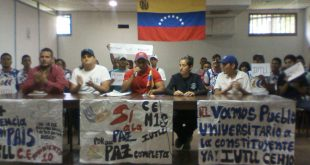 Los líderes de los centros de estudiantes en Infante realizaron el pronunciamiento público en favor de la Asamblea Nacional Constituyente