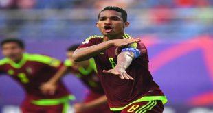 La selección de fútbol de Venezuela venció un gol por cero al combinado de Japón