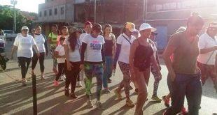 El inicio de la actividad fue en la Plazoleta ubicada en la calle La Vigía cerca del terminal de pasajeros Juan Arroyo