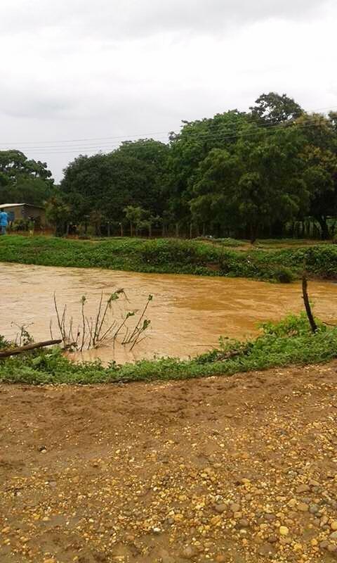 Varias viviendas del caserío La Represa y Arenita están a merced de las aguas debido a las fuertes precipitaciones