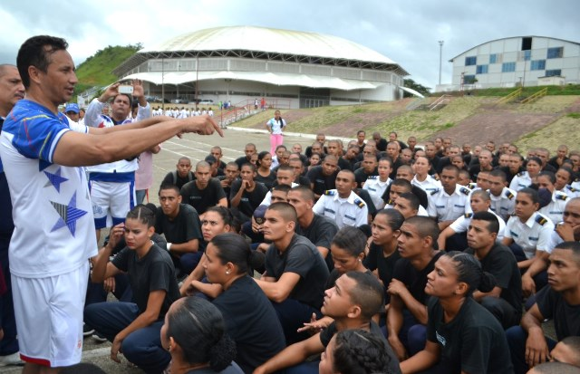 A la actividad también participaron los discentes del Cefopol Guárico