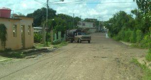 Las calles de la zona están en muy mal estado