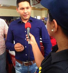 Gabriel Coa desde Valle de la Pascua invitó a votar por José Vásquez.