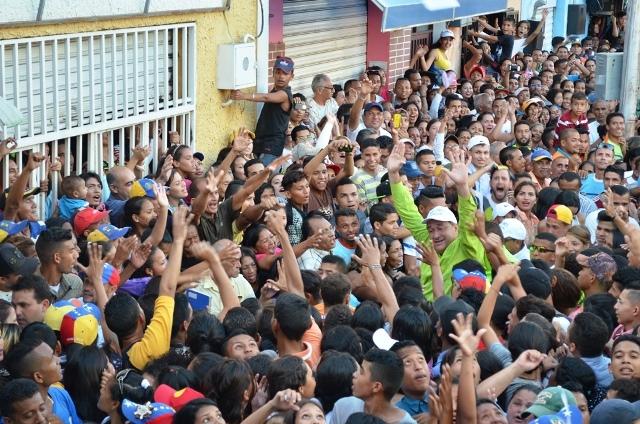 El pueblo de Calabozo recibió con fervor a su líder del estado Guárico