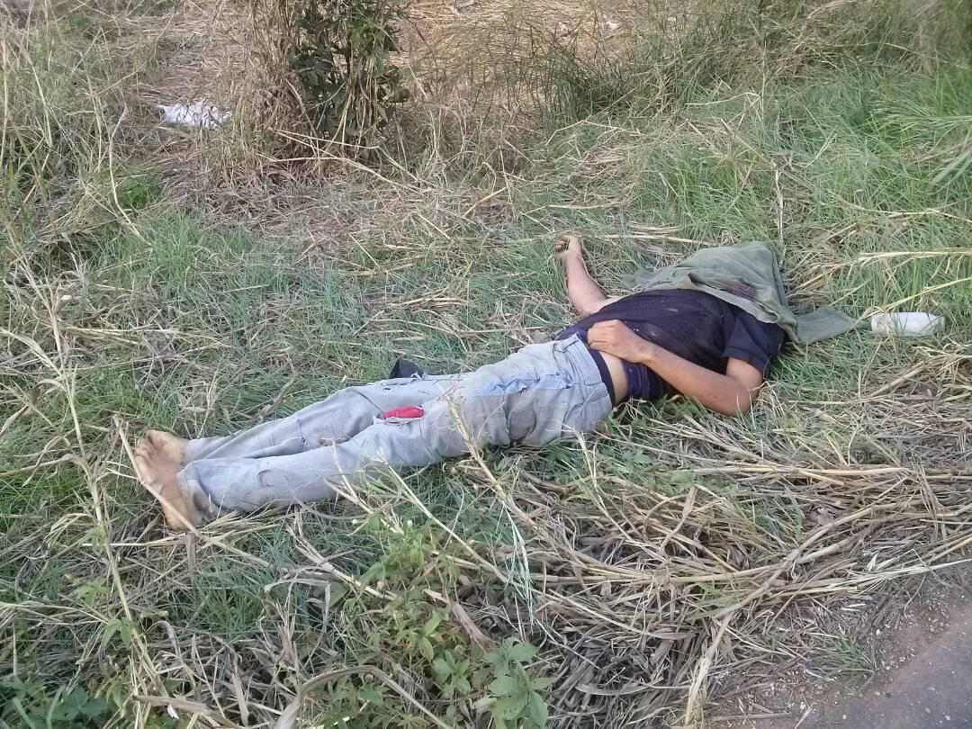 Los cuerpos quedaron en la calzada de la carretera.
