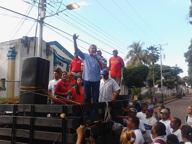 Francisco Graterol se dirigió al pueblo calaboceño