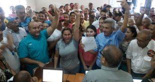 Durasnte inscripción del candidato del PSUV a la alcaldía de Miranda
