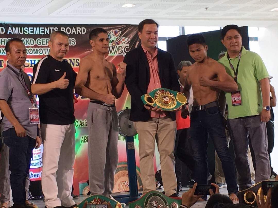 """Omrri """"El Rayo"""" Bolivar competirá contra Jelbirt Gomera de Filipinas en el peso pluma 127 libras, 57 kilogramos."""