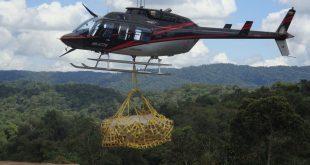 Se cae carga de helicóptero que trasladaba material para la construcción, en Antioquia