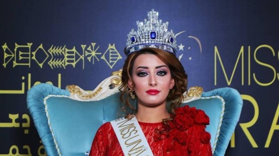 Por tomarse una selfie con Miss Israel, Miss Irak, tuvo que huir de su país