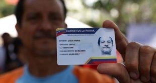 El Carnet de la Patria será para atender regiones y municipios