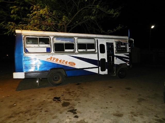 Autobús donde se trasladaba el ahora occiso junto a las personas heridas