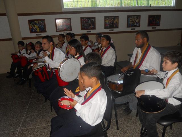 Ensamble de percusión del Programa Educación Especial del Núcleo San Juan de los Morros