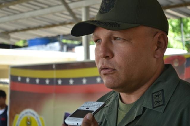 El Teniente Coronel Luis Casanova Abad dijo que el procedimiento se logró gracias a las denuncias formuladas