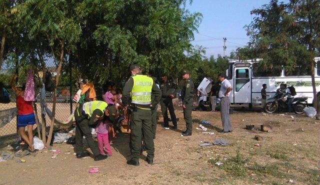 En la cancha Sevilla en Cúcuta cohabitan 400 venezolanos, a la buena de Dios