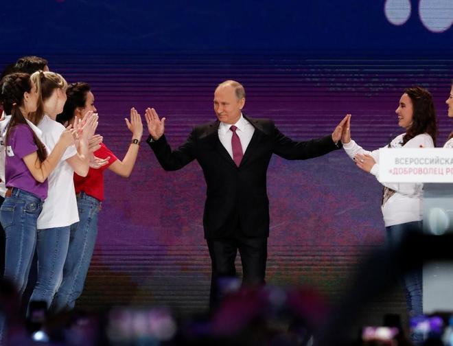 Vladimir Putin se presentará a las elecciones presidenciales de marzo en 2018