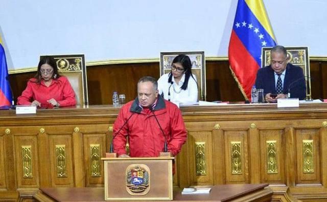 El constituyente Diosdado Cabello dio lectura al decreto.