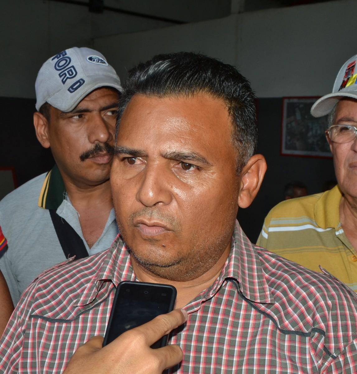 Eudes Orasma, presidente del Movimiento Bolivariano Sindical de Transportistas de Venezuela en Guárico