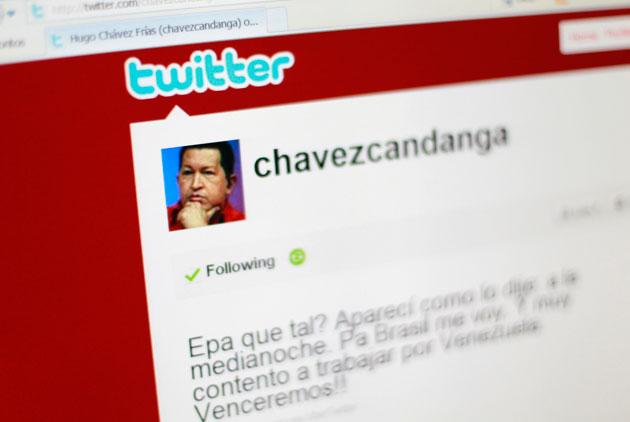 La cuenta de Twitter @Chavezcandanga esta activa nuevamente