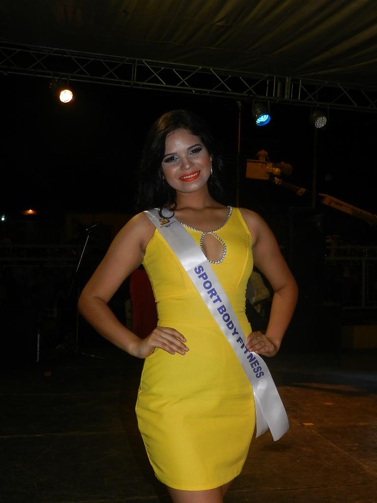 Luisa Peláez, de 19 años de edad y 1.74 de estatura es T.S.U. en Administración de Empresas, le gusta cantar y será patrocinada por Sportbody Fitness.
