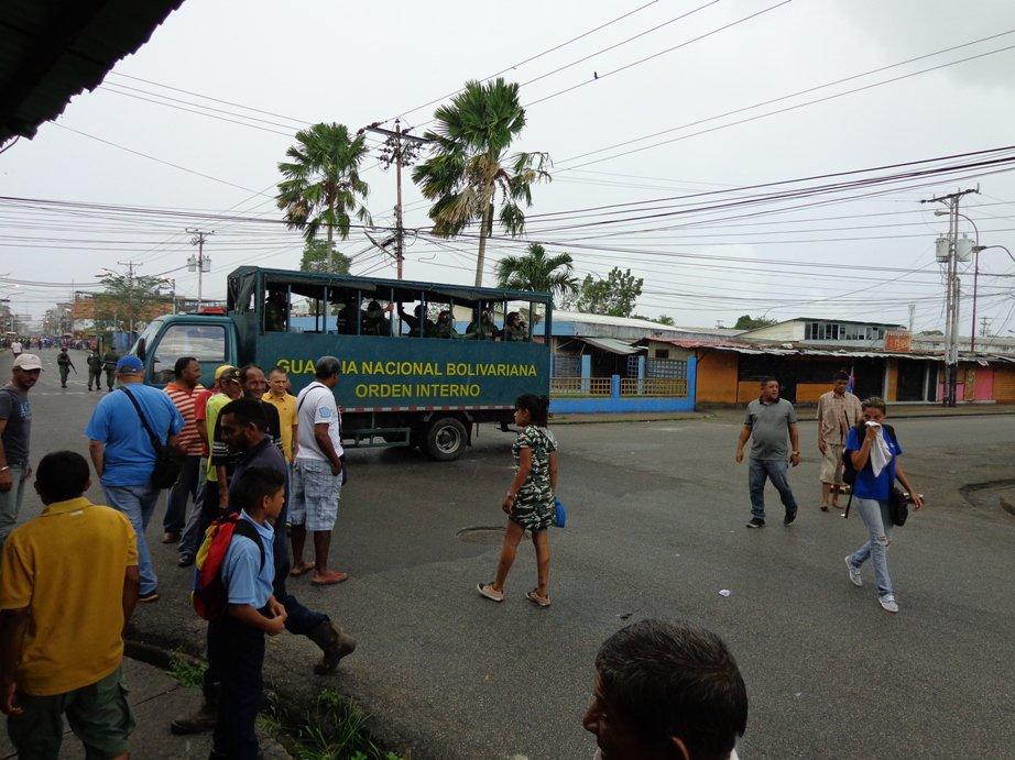 Se registraron disturbios en el Mercado Municipal de Tucupita