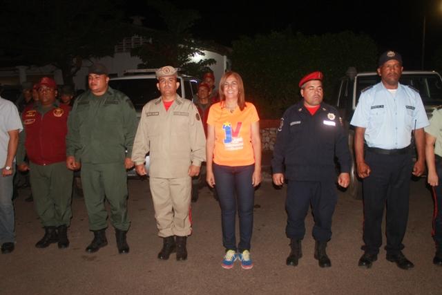 La alcaldesa Nidia Loreto junto a los cuerpos policiales activo el dispositivo de seguridad carnavales seguros 2018