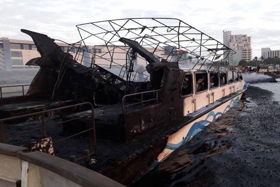 Quince embarcaciones se incendiaron en Nueva Esparta
