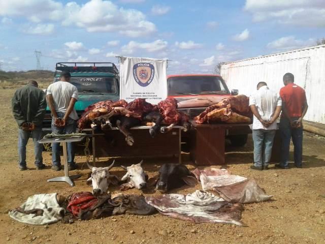 Los hombres habian matado 3 reses en la finca Las Babas del municipio Infante.