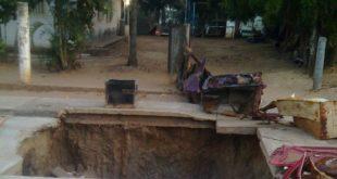 Esta tronera adorna la calle La Gloria desde hace mas de un año