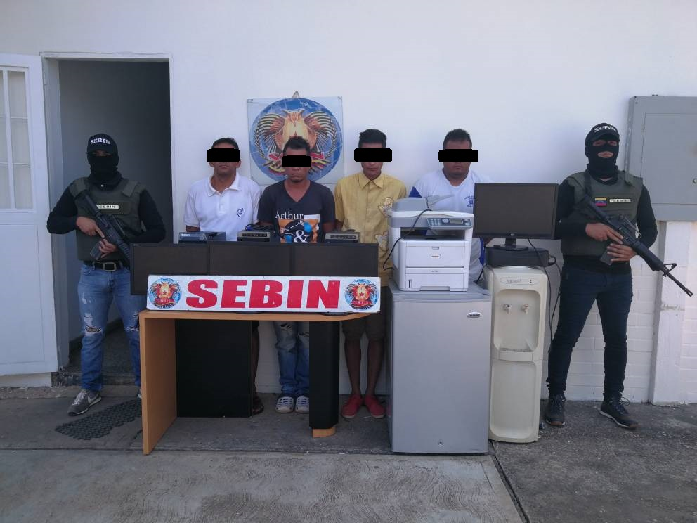 Cuatro hombres capturados luego de robar material estratégico de la empresa Petroguárico.