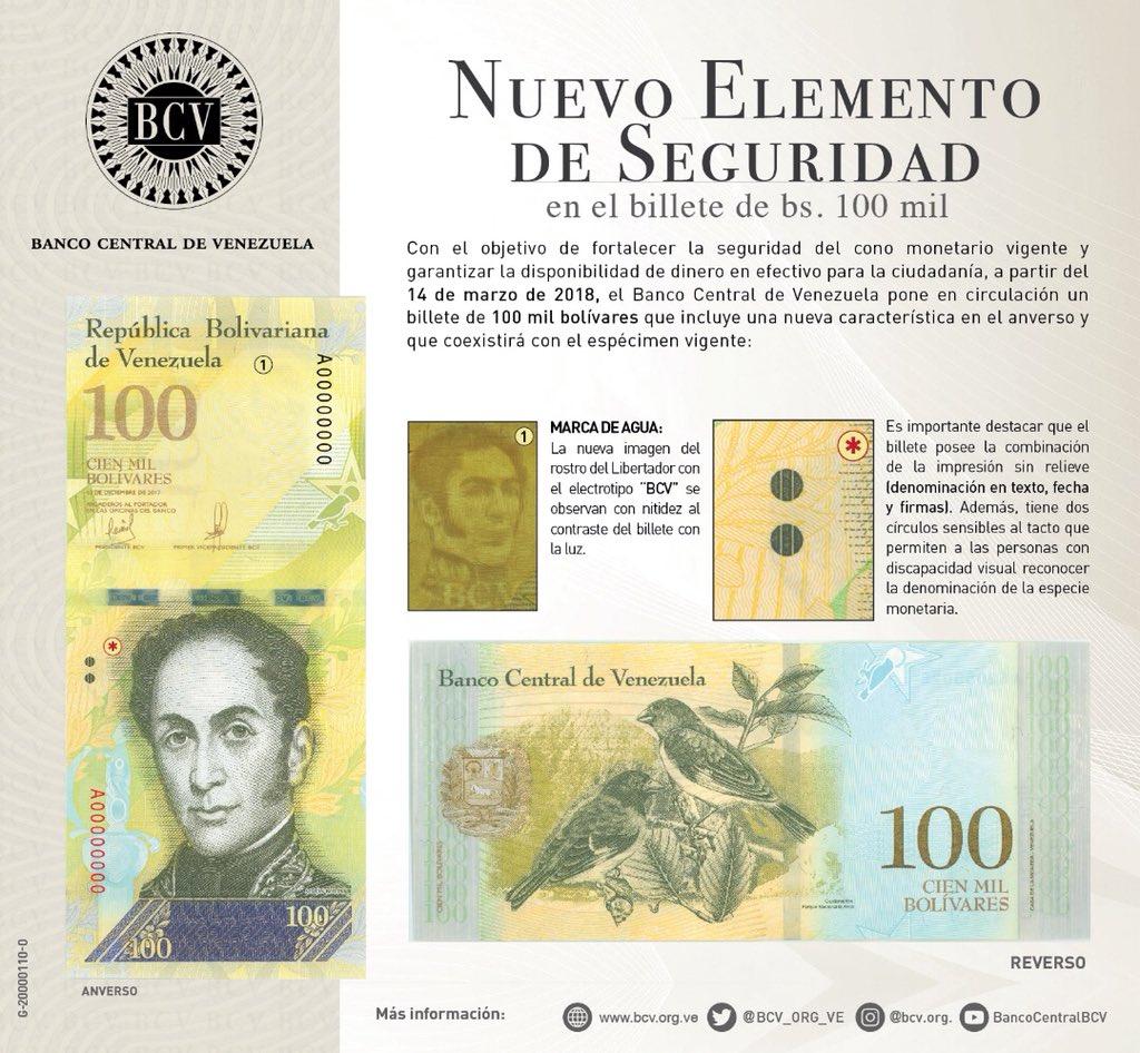 El nuevo billete tiene una marca de agua de seguridad y circulara en conjunto con el antiguo billete de la misma denominación