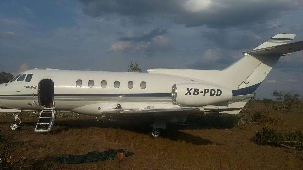 La aeronave tenia siglas falsas.