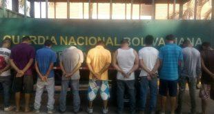 Once detenidos dejó el procedimiento aplicado por la GNB