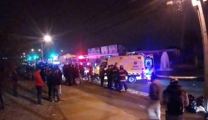 En el accidente murieron los dos tripulantes de la moto.