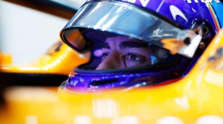 Fernando Alonso comprometido hacia la próxima prueba.