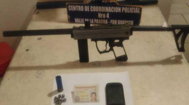 Pistola para jugar PaintBall fue recuperada en Las Acacias